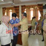 Puluhan Mahasiswa KKN UGM Yogyakarta di sambut Bupati Blora