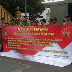 Polres Blora Amankan Orasi Sikap GP Ansor Dan Banser Antisipasi Ormas Radikal Anti Pancasila