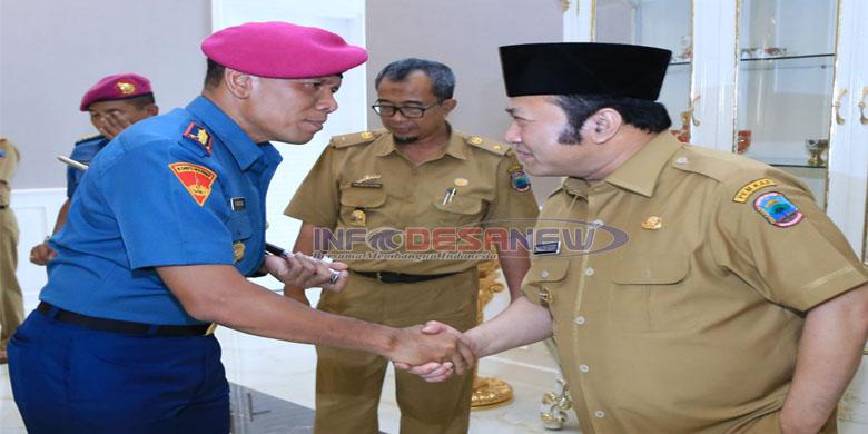 Photo of Danbrigif- 3 Marinir Piabung Jalin Silaturohmi Pemda Lampung Selatan