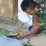 Timkes Pastikan TNI dan Warga Di Lokasi TMMD Terjaga Kesehatannya Memasuki Musim Pancaroba