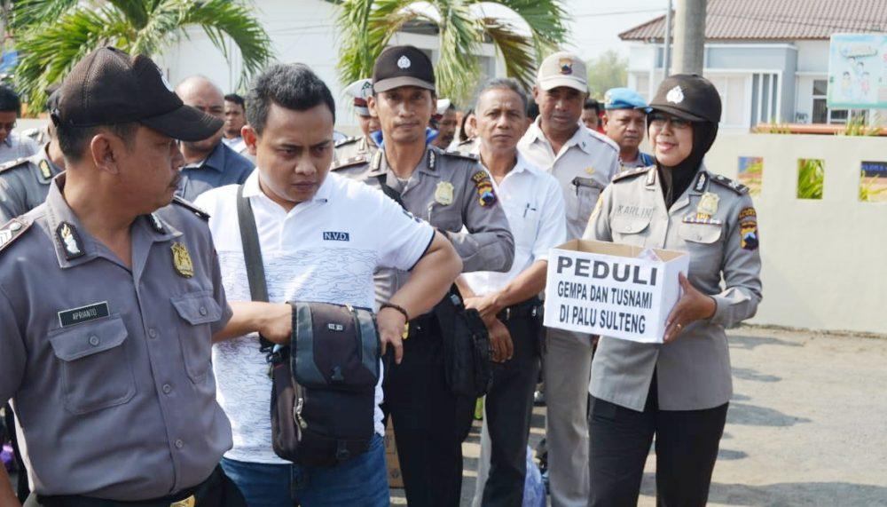 Photo of Polres Blora Galang Batuan Untuk Duka Palu