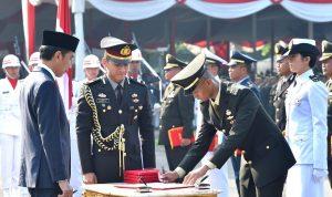 781 Perwira TNI dan Polri Tahun 2019 Dilantik Presiden Jokowi