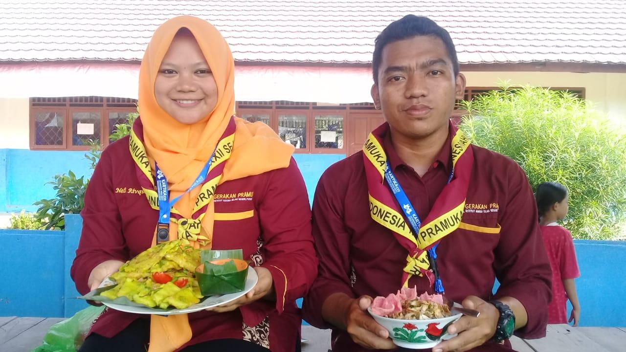 "Pramuka IAIN Purwokerto perkenalkan ""Soto dan Mendoan"" di Palembang"