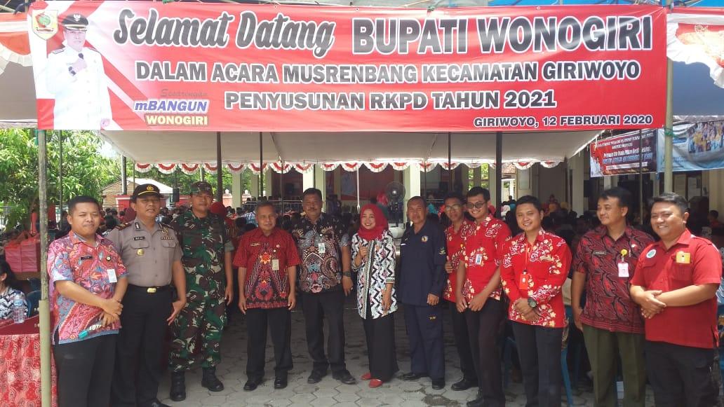 Photo of Babinsa Koramil Giriwoyo Hadiri Musrenbang Bersama Bupati