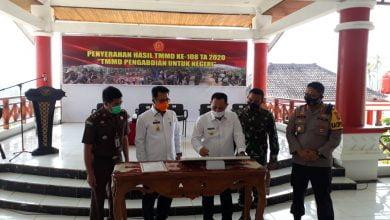 Photo of Nanang Tandatangani Prasasti Dan Berita Acara Program TMMD Ke 108 Kodim 0421/LS