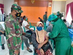 Wujud Perhatian Korem 091/ASN Dilaksanakan Vaksinasi Kepada Purnawirawan, istri Purnawirawan, Warakawuri Dan KBT