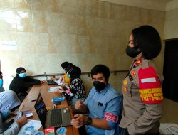 Percepatan Program Vaksinasi Ditinjau Kapolsek Tanjung Duren